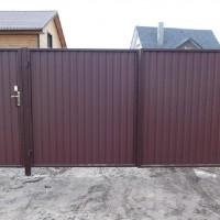 Как сделать ворота для частного дома из металлопрофиля: чертежи + поэтапная инструкция изготовления.