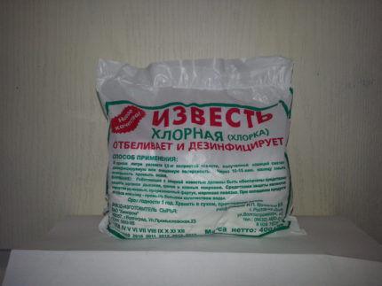 Хлорная известь для дезинфекции колодца