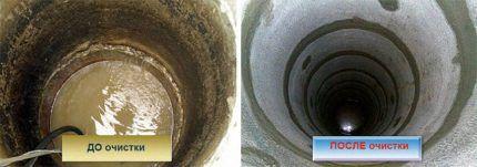 Дезинфекция и очистка бетонного колодца