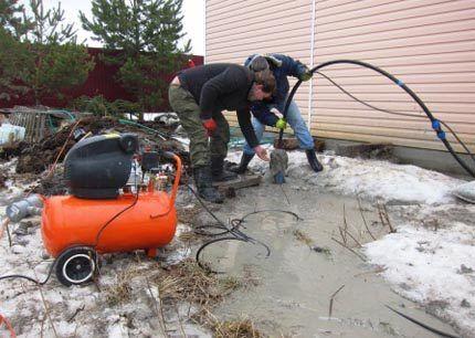 продувка скважины на загородном участке