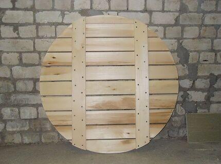 Деревянный донный щит для колодца