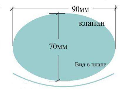Лепестковый клапан для желонки