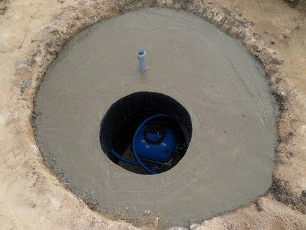Кессон из бетона для водозаборной скважины