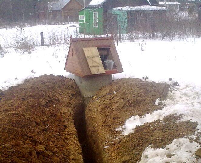 Зимний водопровод на участке