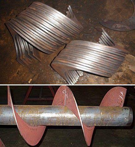Лопасти бура из листового металла