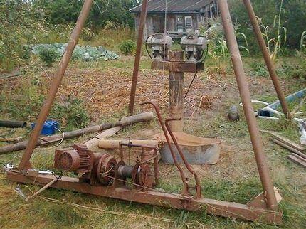 Ударно-канатная установка