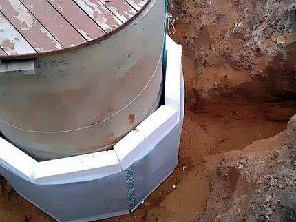 Утепление бетонного кессона