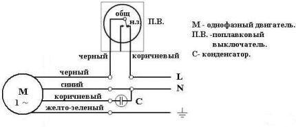 Схема расположения проводов