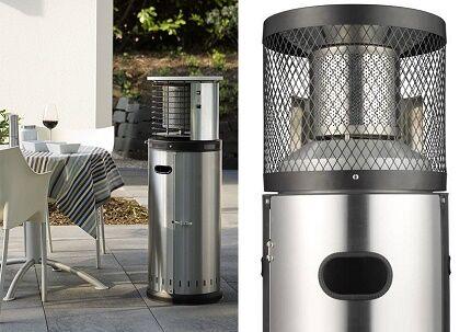 Уличный газовый обогреватель столбик