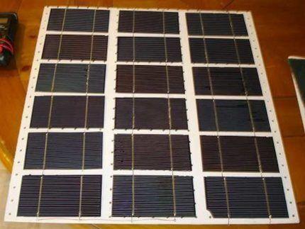 Размещение солнечных элементов на подложке