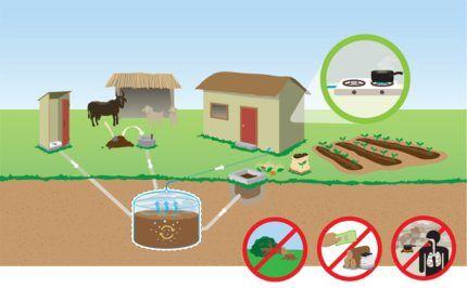 Получение биогаза из навоза