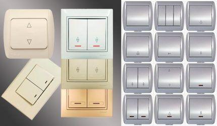 Разнообразие выбора выключателей для дома
