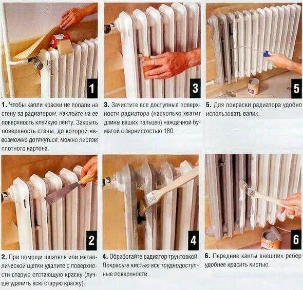 Как покрасить радиатор отопления