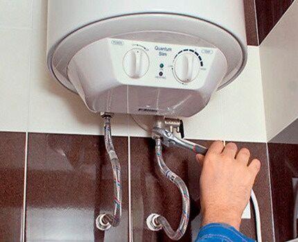 Как провести слив воды из водонагревателя