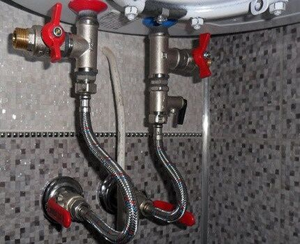 Алгоритм слива воды из водонагревателя