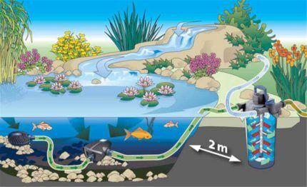 Расстояние до водоема