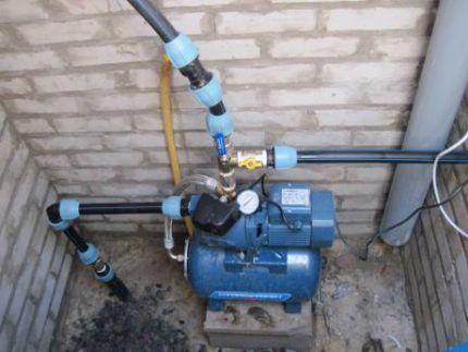 Подключение поверхностного насоса к водопроводу