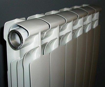 Разборной радиатор с отдельными секциями
