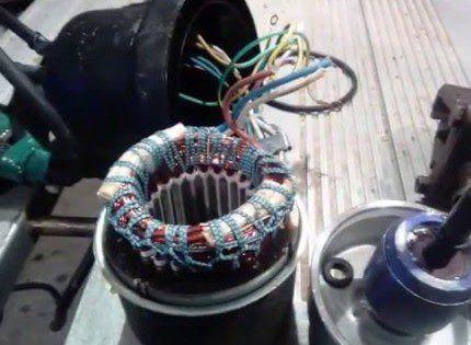 Ремонт кабеля насоса