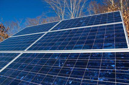 Солнечные панели на поли кристаллах в частной системе отопления