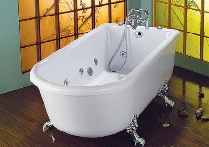 Устройство чугунной гидромассажной ванны