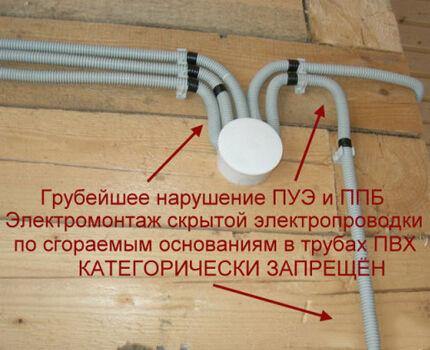 Неправильно проложенная проводка
