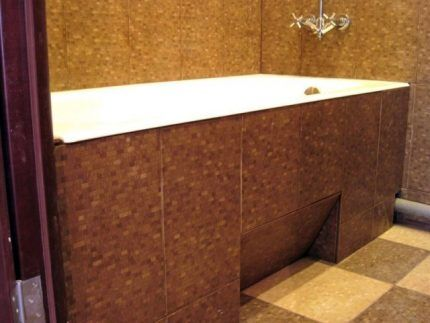 Экран под ванну с выемкой для ног