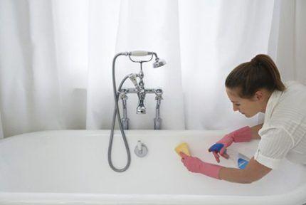 Очистка ванны