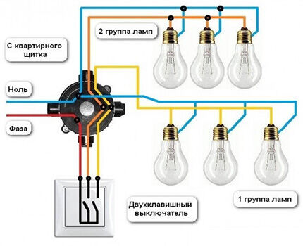Схема подключения люстры