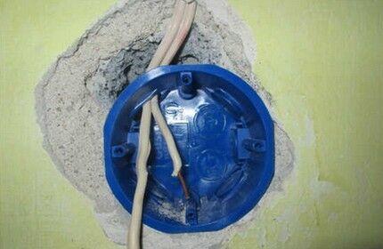 Установка «стакана» в стенную нишу