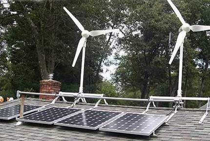 Солнечная энергия и ветряки