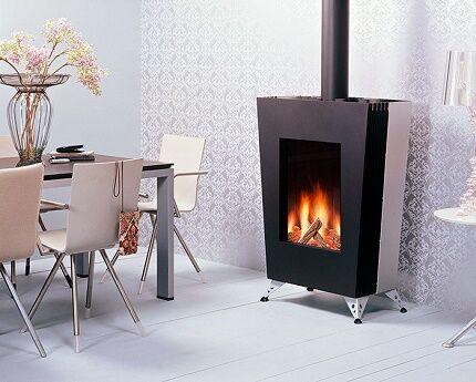 Газовый камин для отопления частного дома