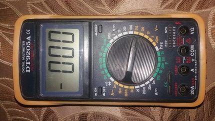 Мультитестер цифровой DT9205А