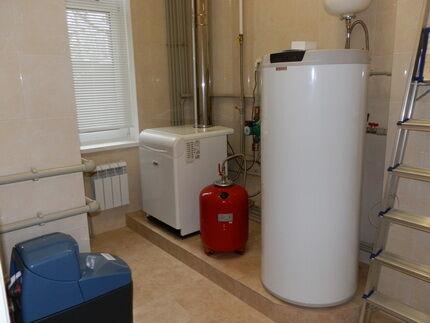 Установка напольного газового котла