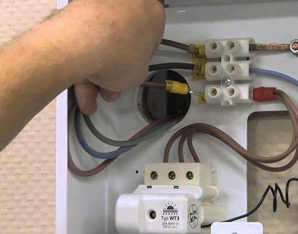 Подключение котла к электросети