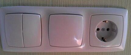 Пример подключения выключателя и розетки