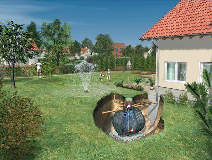 Схема монтажа подземного резервуара