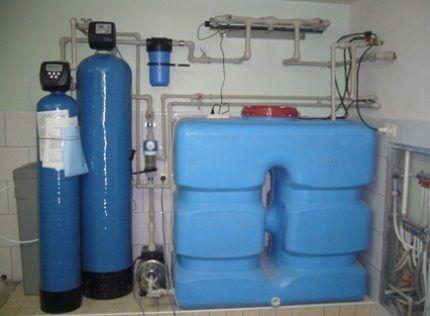 Установка резервуара в помещении