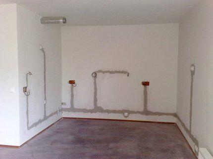Замена проводки в комнате