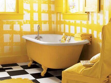 Ванна желтого цвета