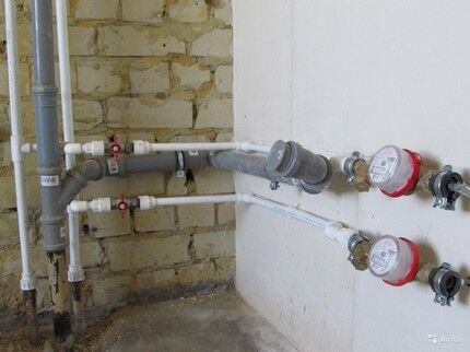 Перенос вертикального трубопровода