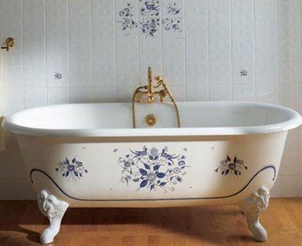 Элитная ванна в интерьере