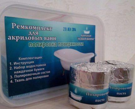 Ремкомплект для акриловой ванны