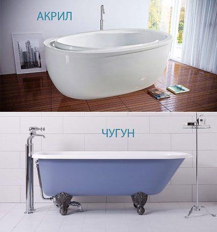 Популярные материалы для ванн