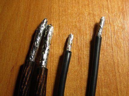 Как залудить концы проводов