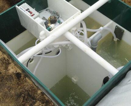 Наполнение станции водой