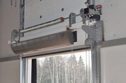 Учет тепловой завесы в расчетах воздушного отопления