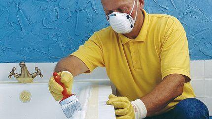 Респиратор при восстановлении ванн