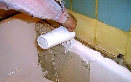 Реставрация ванны путем заливки жидкого акрила