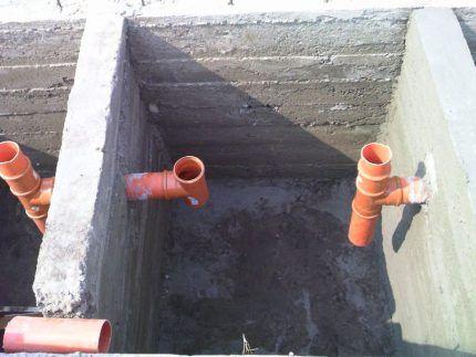 Перелив для выгребной ямы